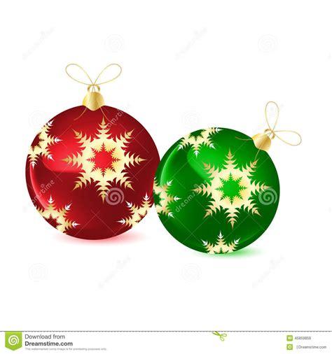 bolas decorativas para el 225 rbol de navidad ilustraci 243 n del