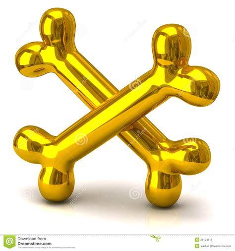 golden house miniature gold toy stock illustration two golden bones royalty free stock photo image 26104815
