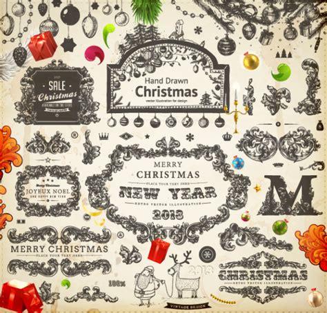 imagenes vintage navidad vectores de navidad estilo vintage puertopixel com