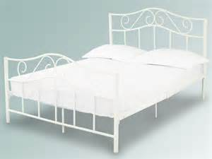 White Metal Frame Beds Lpd Zeta White Metal Bed Frame