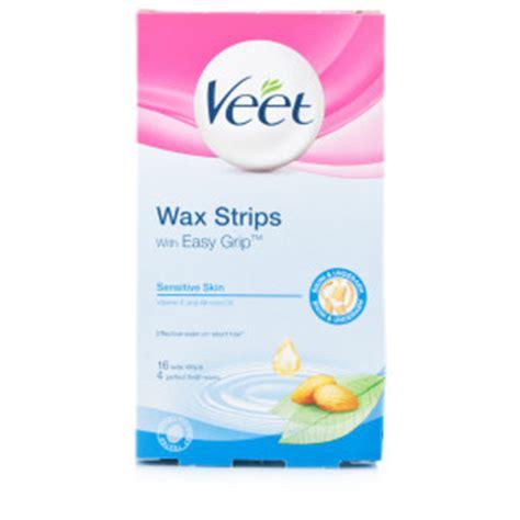 Veet Finish Wipes Pembersih Bekas Wax veet and underarm wax strips sensitive skin chemist direct