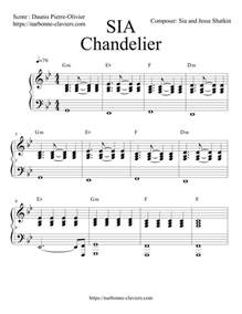 chandelier piano sheet chandelier de sia piano partition gratuite free sheet