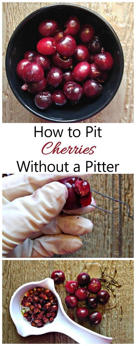 pit cherries without a cherry pitter kitchen tip from recipes just 4u