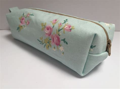 Handmade Pencil Cases - handmade cotton fabric pencil makeup bag storage bag ask