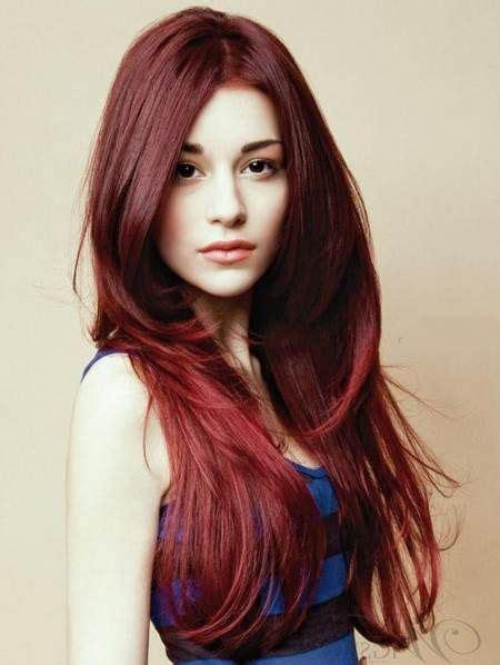 tutorial rambut panjang poni 20 ide gaya rambut panjang terbaik di pinterest