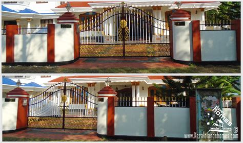 house compound wall designs photos beautiful houses compound wall designs photoreal estate kerala free classifieds