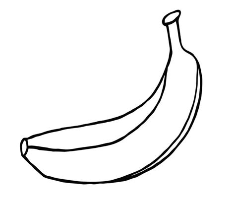 banana coloring page banana free colouring pages