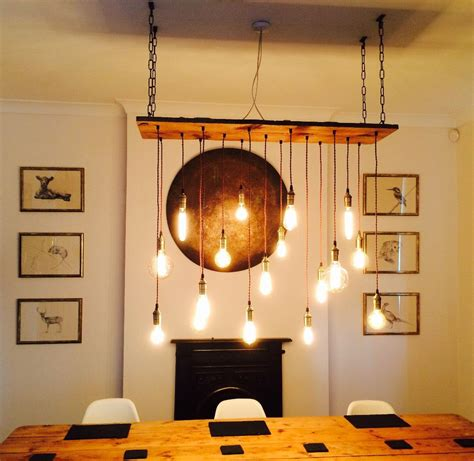 Rustikale Tischleuchten 699 rustic wood chandelier 17 pendant lights rustic light