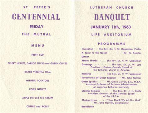 Banquet Program Template