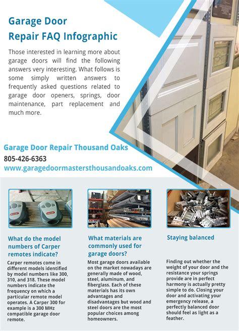 Thousand Oaks Garage Door Repair Garage Door Repair Thousand Oaks Infographic