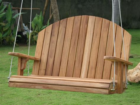 wooden swing seats uk adirondack swing seat teak wood