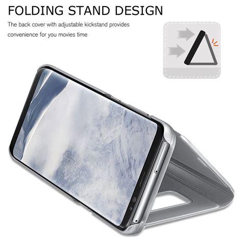 J5 2017 J520 Smart Clear View Flip Mirror Cover Autolock 56 for samsung galaxy j3 j5 j7 pro 2017 clear view mirror leather flip smart ebay