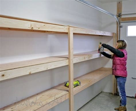 how to build shelving for garage the suitable home design