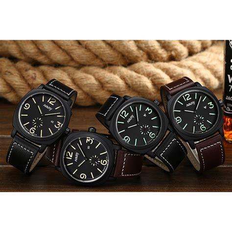 Jam Tangan Casio Analog Kulit nary jam tangan analog kulit 6119 black green jakartanotebook