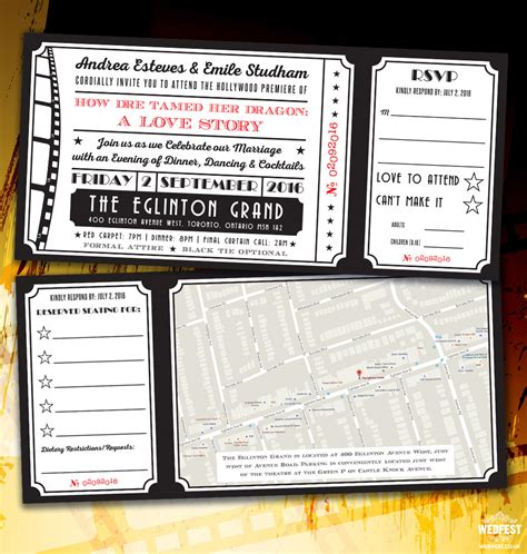 Themed Wedding Invitations by Cinema And Themed Wedding Stationery Wedfest