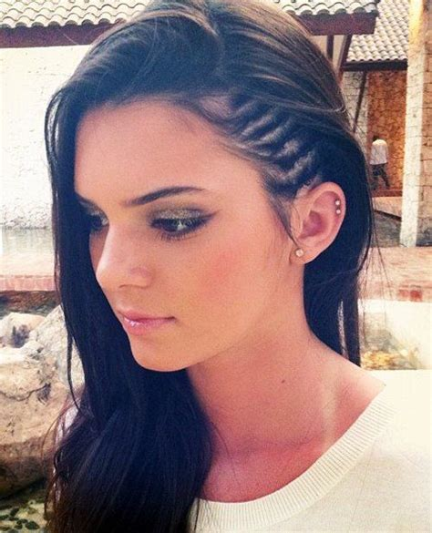 braided hairstyles with half shaved hair faux undercut style side braids strayhair