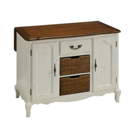 home depot kitchen island home styles countryside 48 in w drop leaf kitchen island in oak and rubbed white 5518 94