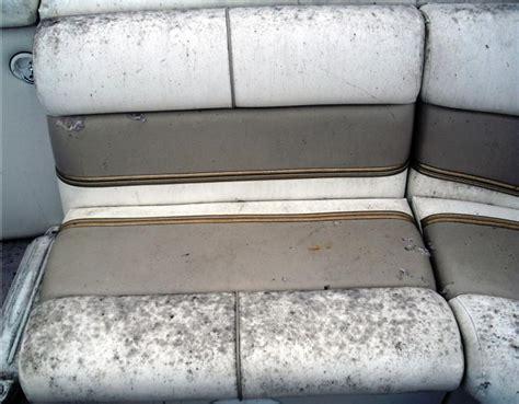 removing mold mildew  boat seats boatlife