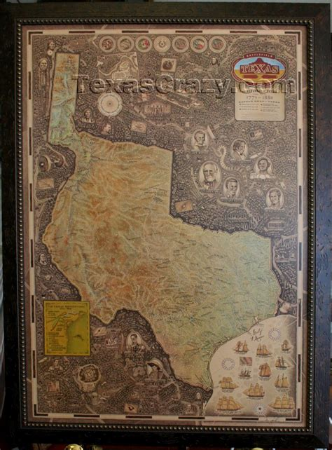 framed texas maps buy texas battle map framed unique texas gifts and home office decor