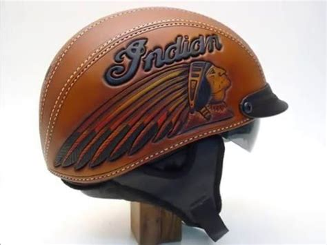 leather motorcycle helmet motorcycle helmet hand tooled leather indian motorcycle