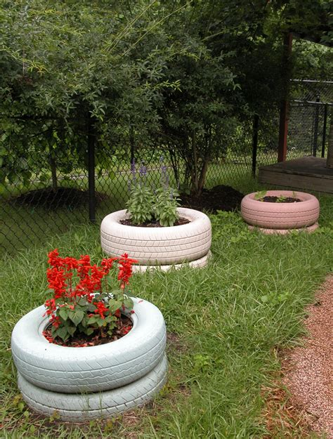 Tire Planters Garden by Painting Tire Planters Learning Initiative
