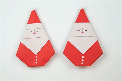 How To Make Santa Origami - how to make a origami santa