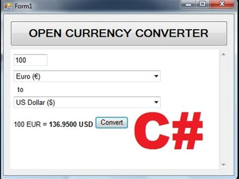 currency converter live c tutorial 102 how to make a live currency converter
