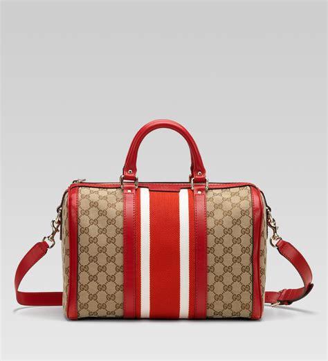 Gucci Boston Bag by Gucci Vintage Web Boston Bag In Multicolor Beige Lyst
