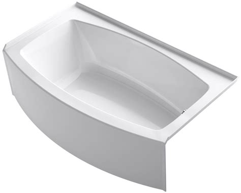 Commercial Kitchen Sink Faucet Kohler K 1118 Ra 0 White 60 Quot Three Wall Alcove Curved