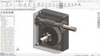 solidworks tutorial gearbox solidworks tutorial sketch worm gear reducer in