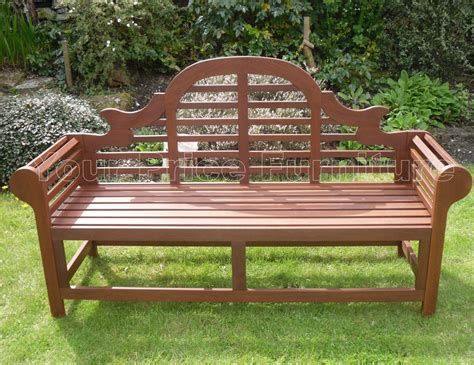 hardwood garden bench richmond lutyens style hardwood garden bench 1 2 price