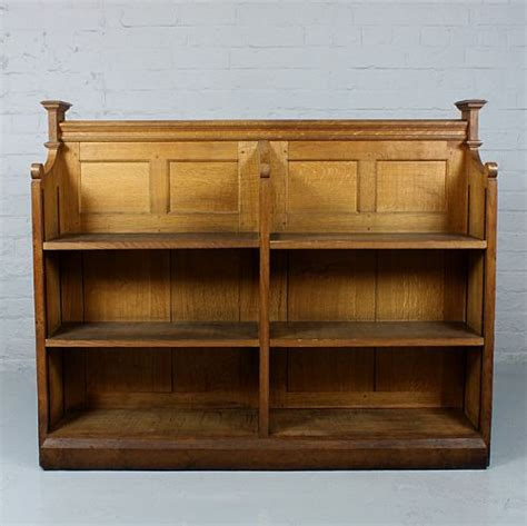 sided oak bookcase 227631 sellingantiques co uk