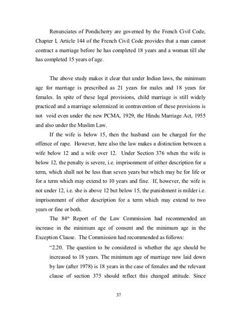 section 15 of hindu marriage act proposal to amend the prohibition of child marriage act