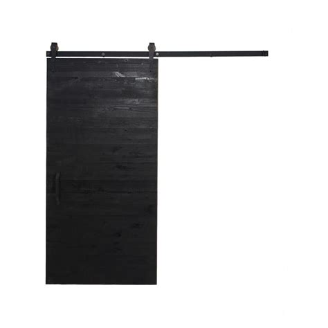 Rustica Hardware 42 In X 84 In Rustica Reclaimed Matte Reclaimed Barn Door Hardware