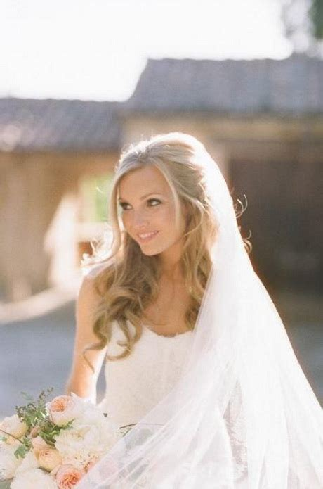 hairstyles down with veil wedding hair with veil