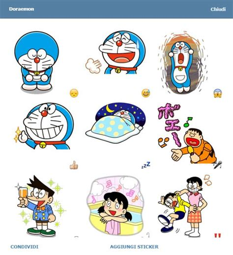 Wallsticker Doraemon 2 telegram stickers doraemon emoji