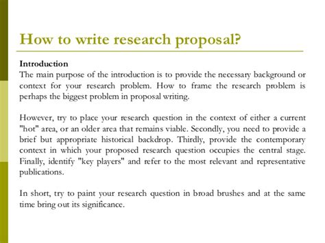 how to write a research paper introduction research