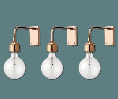 simple beautiful copper wall lights by