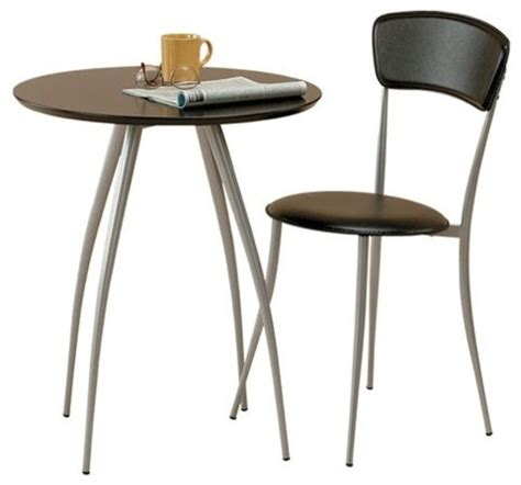 cafe table and chair in black chair sold separately