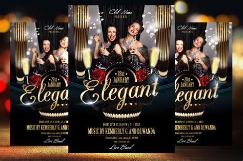 elegant party flyer template flyer templates on creative