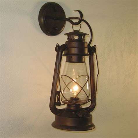 Rustic Lantern Wall Sconce Large Rustic Finish Lantern Wall Mounted Light Sconce Ebay
