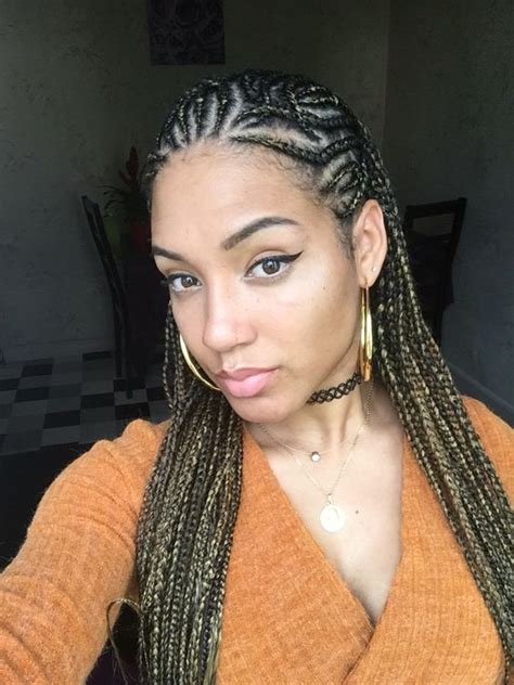 cornrow hairstyles for black women with part in the middle alicia keys inspired look cornrows braids hair