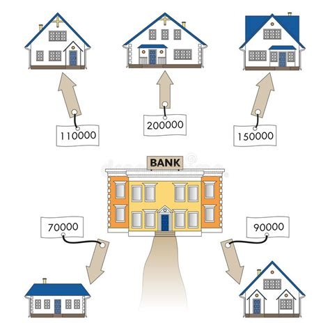 buying house on mortgage in islam vector illustration mortgage loan to buy a house