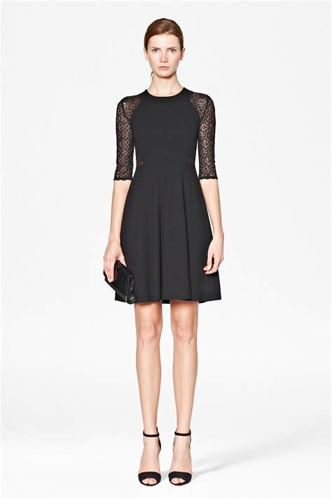 Vianna Lace Dress Black vienna lace jersey dress season