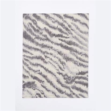 west elm zebra rug diffused zebra printed wool rug west elm