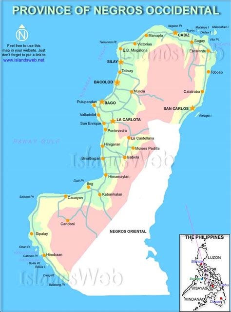 negros occidental map maps political road hinobaan s weblog