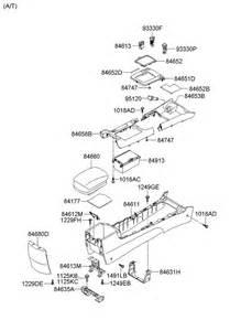 Parts For Hyundai 2006 Hyundai Sonata Floor Center Console