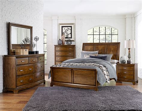 Homelegance Terron Sleigh Bedroom Set Medium Oak 1909rf Medium Oak Bedroom Furniture