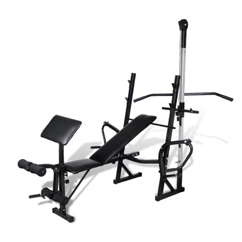 small exercise bench adjustable exercise bench w pull down leg curl buy exercise benches