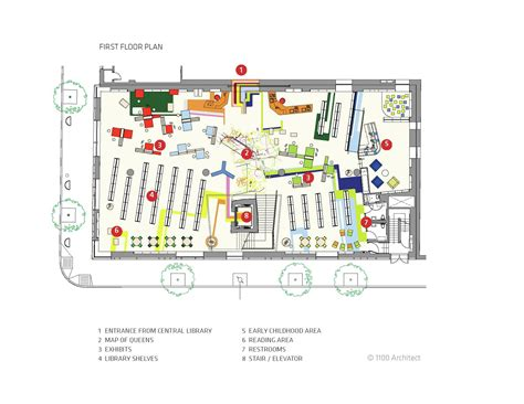 www floor plan design com gallery of children s library discovery center 1100